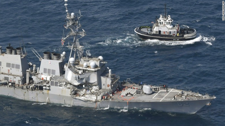 Missing sailors found dead in flooded compartments on US Navy destroyer