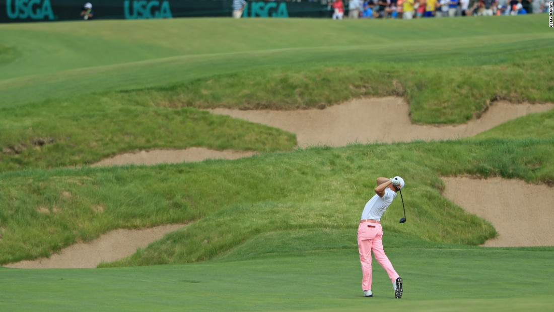 "Thomas, 24, unleashed his three-wood second shot 310 yards to reach the green on the 667-yard par-five 18th to set up an eight-feet record-breaking eagle putt. ""Oh gosh, Jimmy, be good,"" he said to his caddie as the ball was in the air."