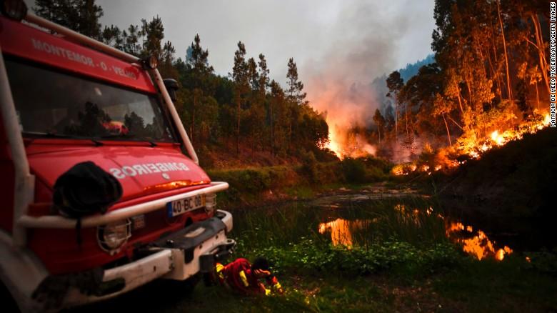 葡萄牙Leiria区Pedrogao Grande森林火灾 - wuwei1101 - 西花社