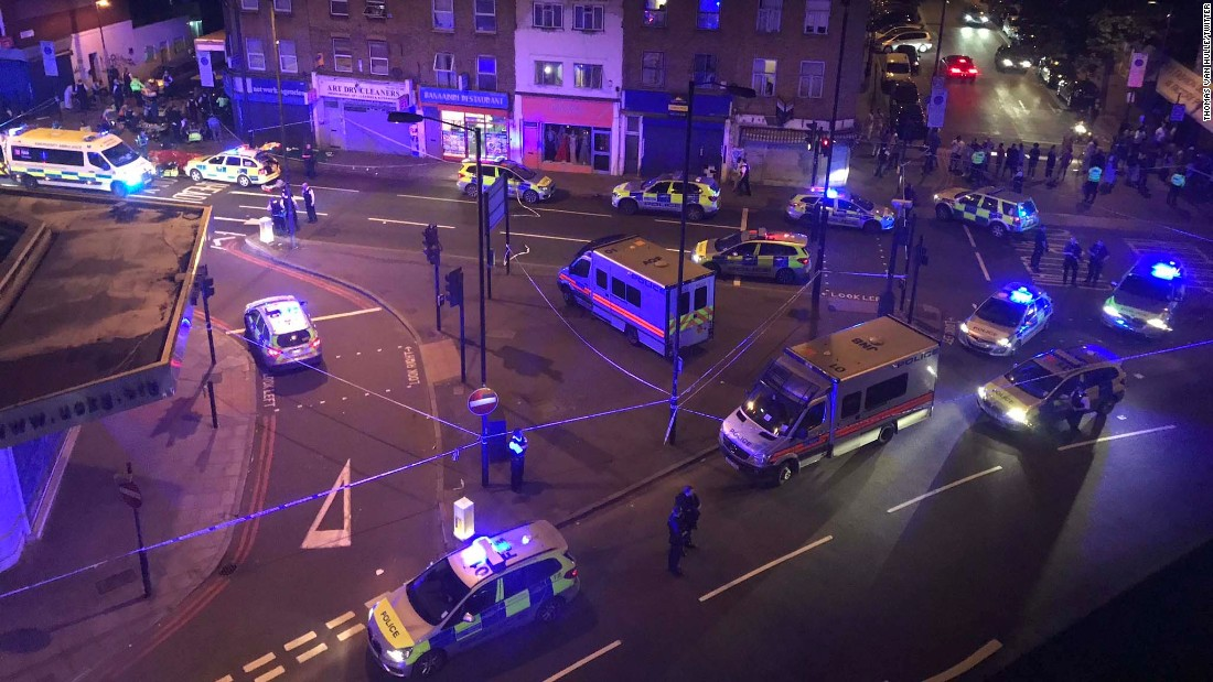 Finsbury Park: One dead in 'horrific' van attack near mosque