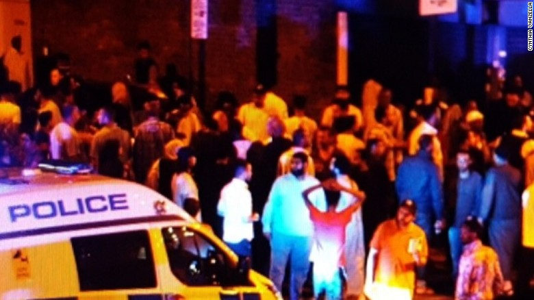 Van ploughing into crowd in London kills one, leaves ten injured