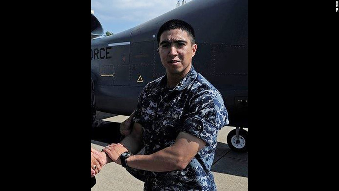 Gunner's Mate 2nd Class Noe Hernandez, 26, from Weslaco, Texas.