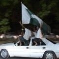 Pakistan cricket fans celebrate