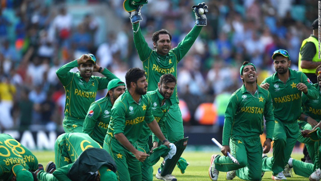 "Pakistan's team prayed after their convincing victory. ""I feel really special,"" all-rounder Imad Wasim told CNN Sport. ""Winning in England is something special."""
