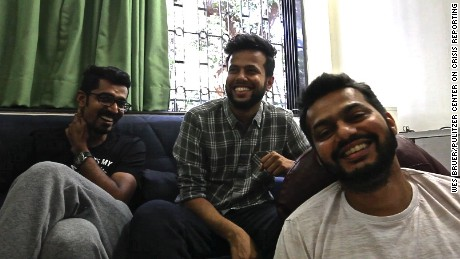 East India Comedy members Azeem Banatwalla, Kunal Rao, and Sapan Verma.