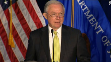 Attorney General Jeff Sessions speaks at the National Summit on Crime and Reduction and Public Safety in Bethesda, Maryland.