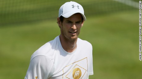 LONDON, ENGLAND - JUNE 18:  Andy Murray of Great Britain looks on during a practice session ahead of the Aegon Championships at Queens Club on June 16, 2017 in London, England.  (Photo by James Chance/Getty Images)