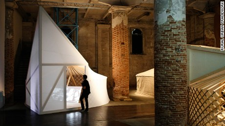 Bolchover and Lin's structure at the Venice Biennale of Architecture in 2016.