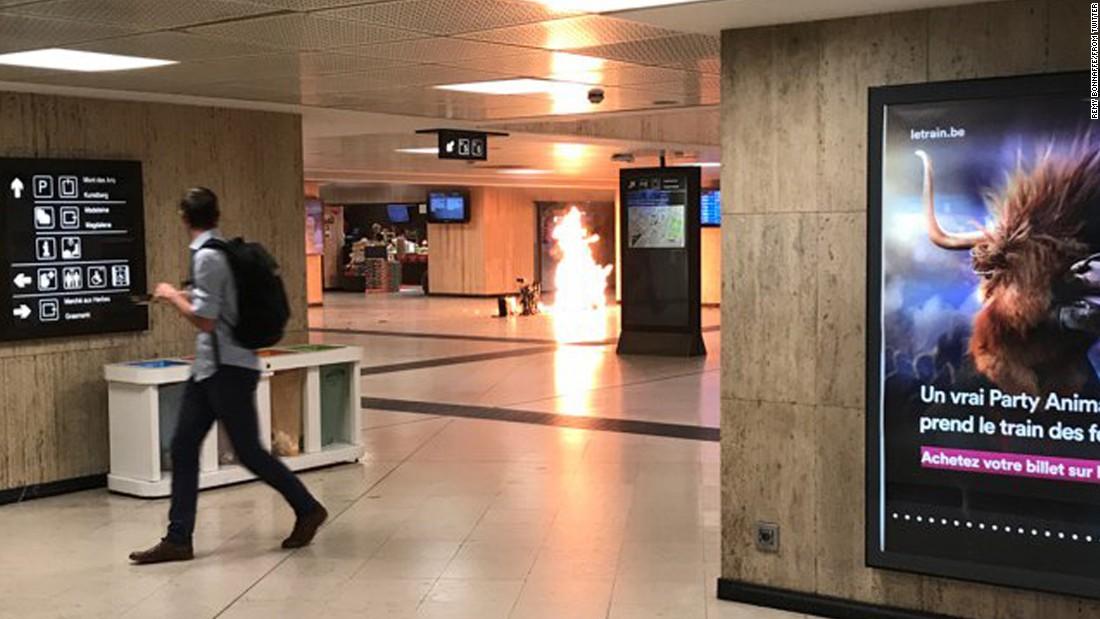 Witness describes hearing loud bang in Belgium