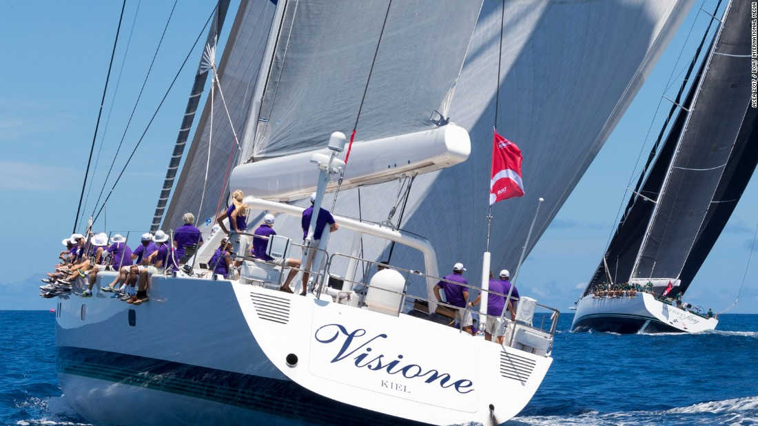 Visione won the opening race in Class A but a later disqualification dropped her to third.