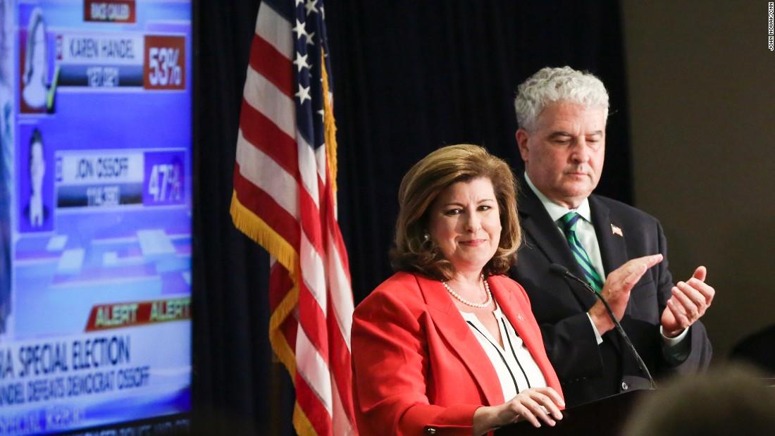 Karen Handel thanks Trump in victory speech