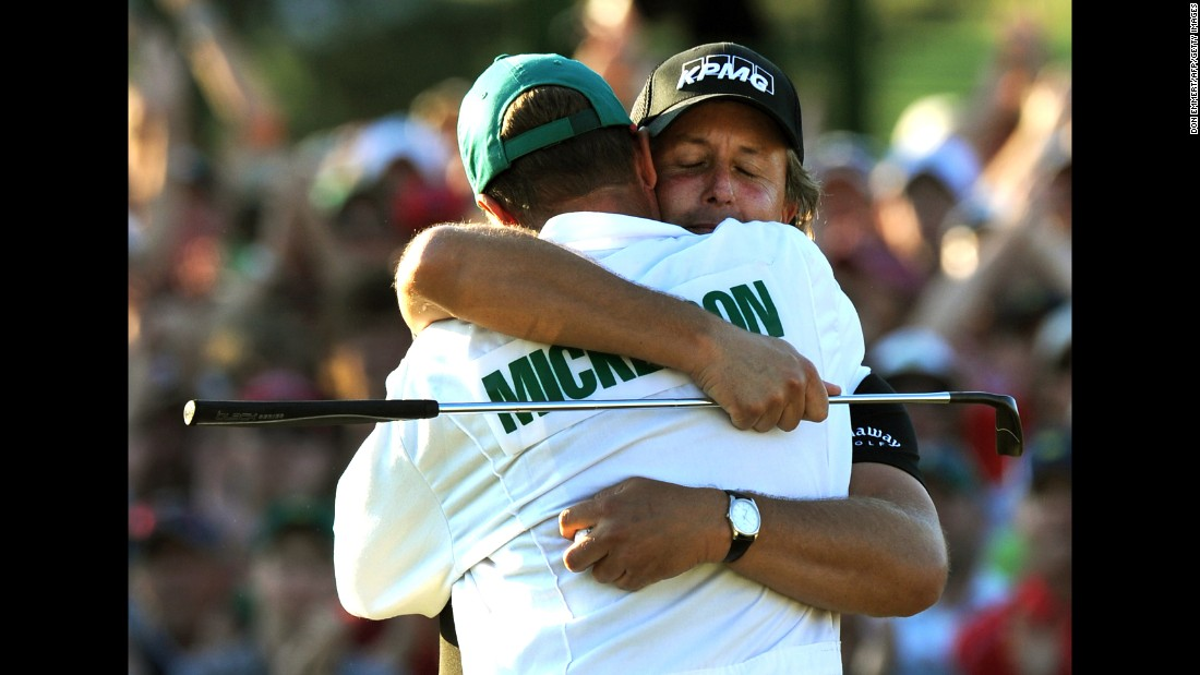 Mickelson and Mackay won a third Masters together in 2010, as well as the 2005 US PGA and the 2013 British Open.