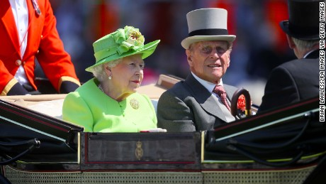 Queen Elizabeth II and Prince Philip, Duke of Edinburgh in their carriage during day one of Royal Ascot at Ascot Racecourse. (Photo by Brian Lawless/PA Images via Getty Images)