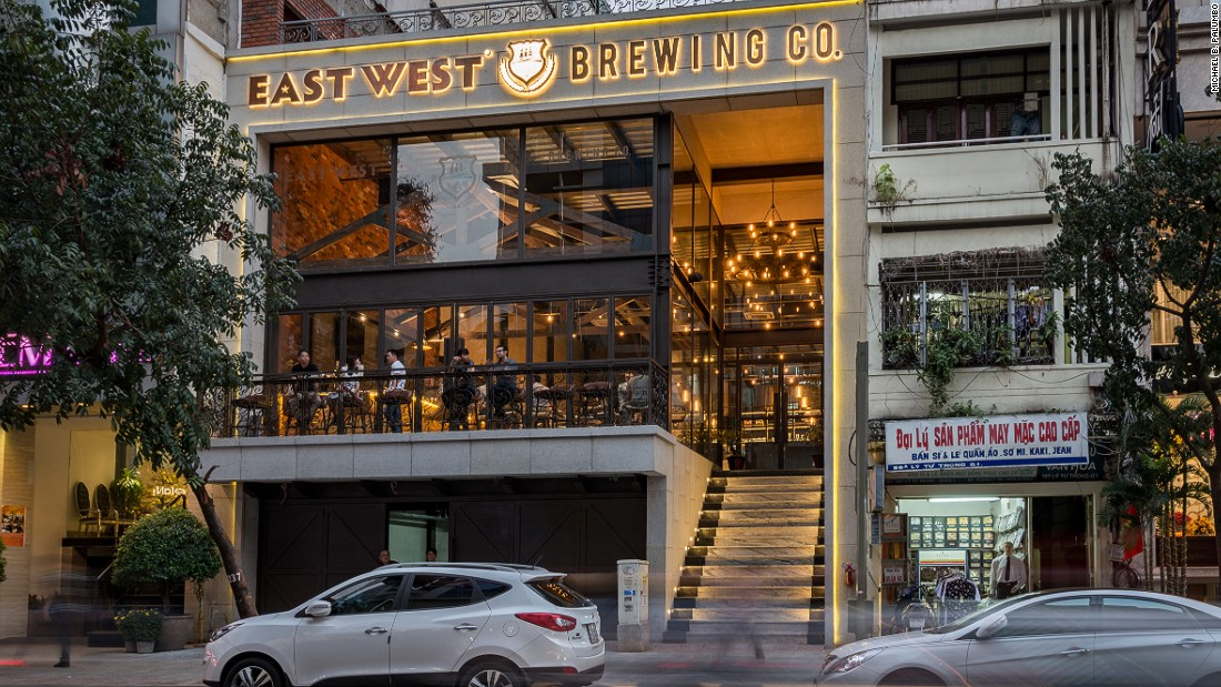 "<a href=""http://eastwestbrewing.vn/"" target=""_blank"">East West Brewing Company</a> opened on a busy street in the city's central District 1 in January, 2017."