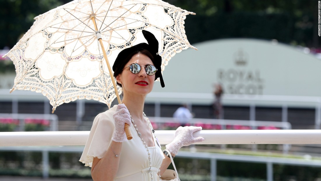 Racegoer Maria Crossley takes in the day's events.