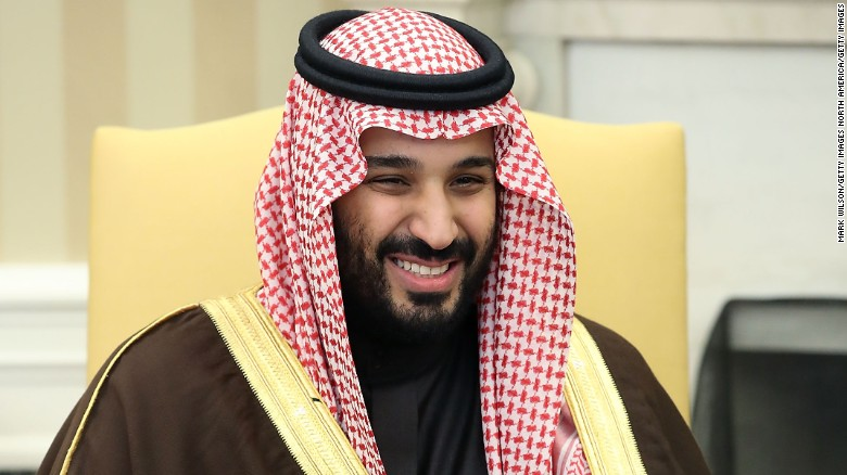 Saudi Crown Prince Mohammed bin Salman viists the White House, March 14, 2017.