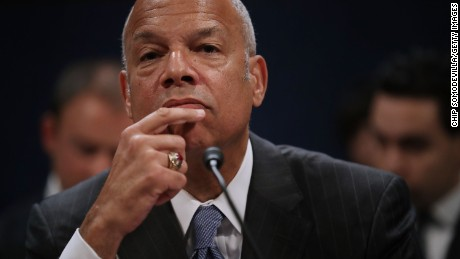 WFormer Homeland Security Secretary Jeh Johnson testifies before the House Intelligence Committee in an open hearing in the U.S. Capitol Visitors Center June 21, 2017 in Washington, DC. Johnson answered questions about Russia's interference in the 2016 presidential elections and his department's response to the threat.