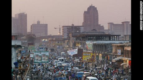 A view of Kinshasa city