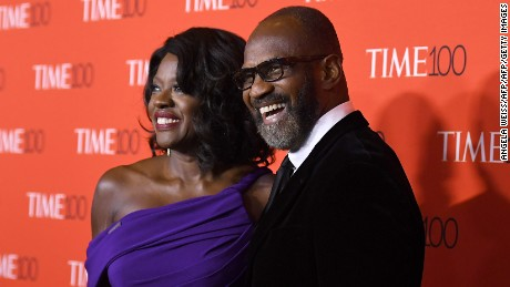 Viola Davis and Julius Tennon attend the 2017 Time 100 Gala at Jazz at Lincoln Center on April 25, 2017 in New York City. / AFP PHOTO / ANGELA WEISS        (Photo credit should read ANGELA WEISS/AFP/Getty Images)