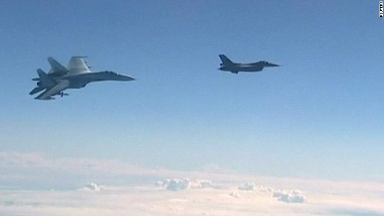 Russian defence minister's plane buzzed by NATO jet over Baltic