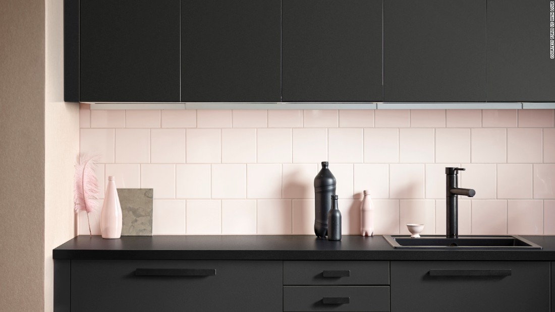 Earlier this year, Swedish design studio Form Us With Love designed the Kungsbacka kitchen for Ikea using a specially made recycled plastic.