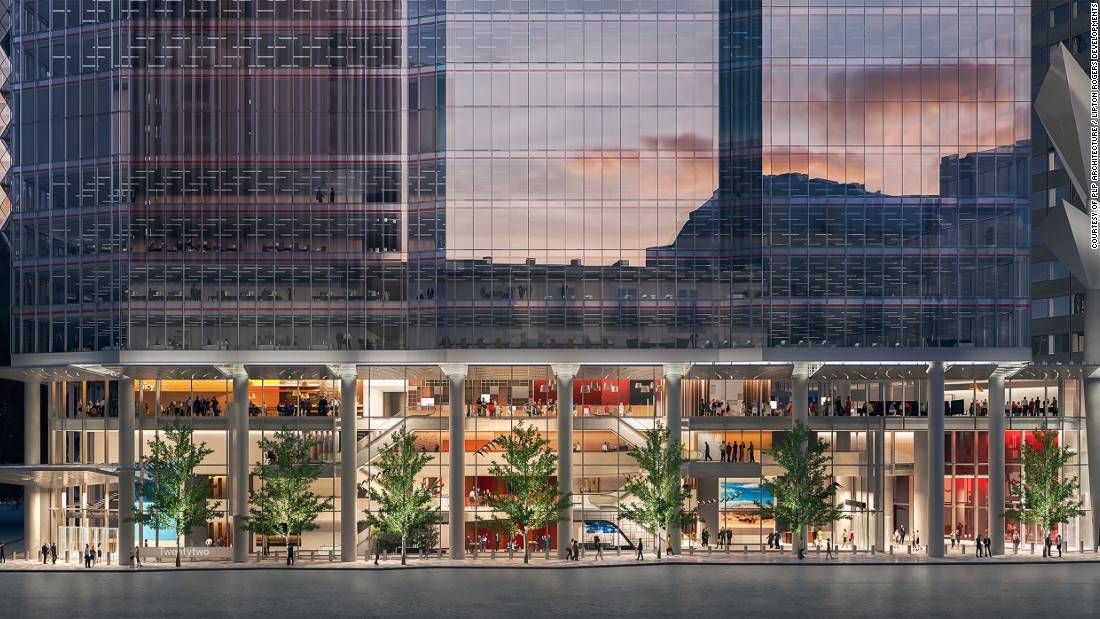 Alongside the health benefits, 22 Bishopsgate will also be stacked with culture. There will be a library in the lobby and both a permanent and changing art collection.