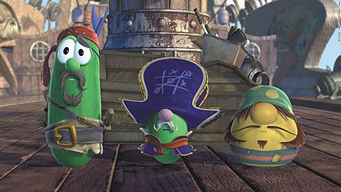 "<strong>""Jonah: A Veggie Tales Movie"": </strong>Pirate Larry, Cap'n Pa and Mr. Lunt are all aboard the U.S.S. Lazy Susan in this children's adventure.<strong> (Hulu)</strong>"