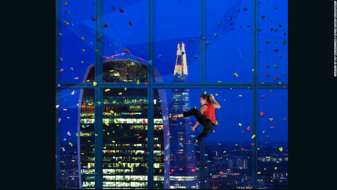 In the City Of London, staying fit and healthy is an important part of the fast-living culture, and this new development will boast a gym, wellness centre and rock climbing wall when it opens in 2019.