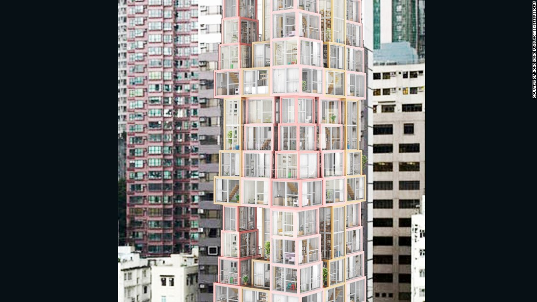 "Winner of the Hong Kong Pixel Homes competition, ""Towers Within a Tower"" offers a bold new vision of a  high rise. Its ""stacked"" apartments aim to do more with limited space."