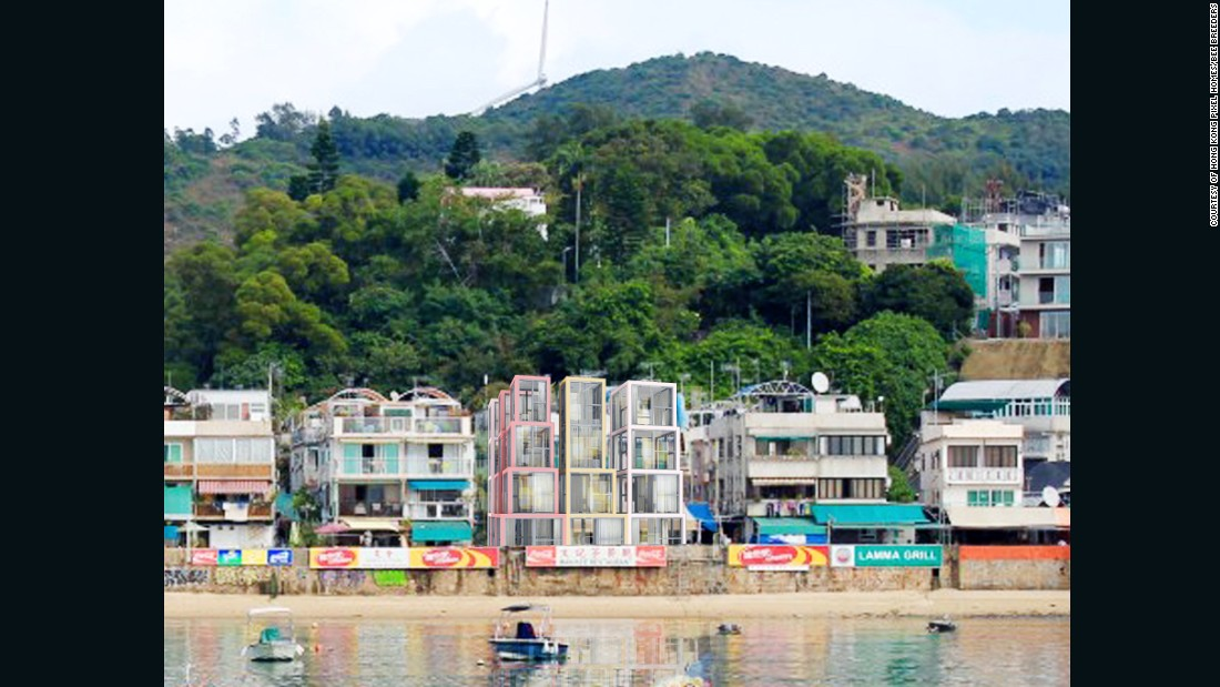 Here, the designers have envisaged their project on one of Hong Kong's smaller, low-rise islands.