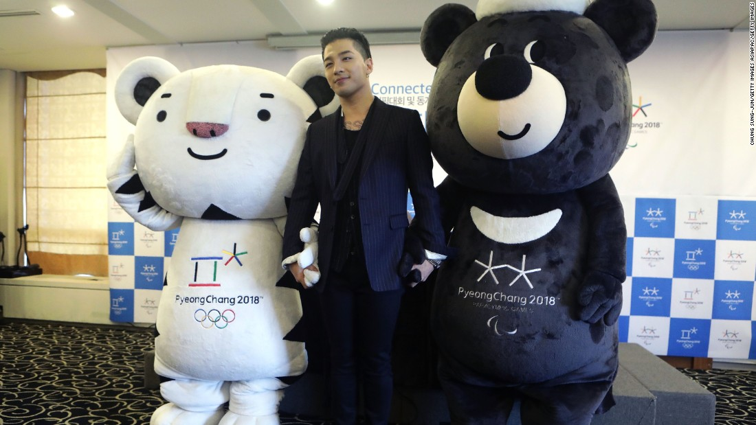Taeyang, one part of Korean pop band Big Band, was appointed honorary ambassador for the 2018 PyeongChang Winter Olympic and Paralympic Winter Games.