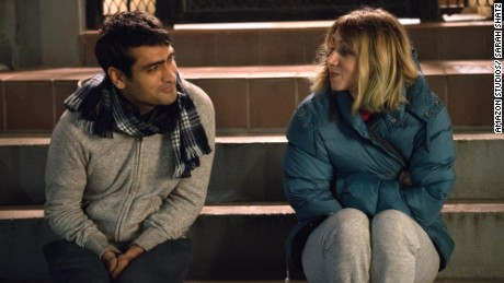 "Kumail Nanjiani as ""Kumail"" and Zoe Kazan as ""Emily"" in 'The Big Sick'"