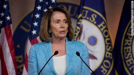 WASHINGTON, DC - JUNE 15:  House Minority Leader Nancy Pelosi (D-CA) speaks during her weekly news conference on Capitol Hill on June 15, 2017 in Washington, DC. Pelosi fielded questions about the congressional baseball shooting and healthcare.  (Photo by Tasos Katopodis/Getty Images)