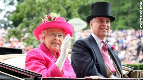 Queen Elizabeth II and Prince Andrew, Duke of York attend Royal Ascot 2017 at Ascot Racecourse on June 22, 2017 in Ascot, England.