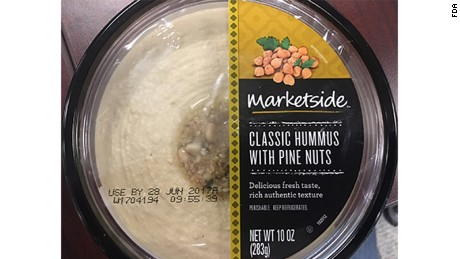 Three brands of hummus produced by House of Thaller, a Knoxville, Tennessee company, are being voluntarily recalled.  All three brands, Fresh Foods Market, Lantana and Marketside are hummus products that have pine nuts on top, and come in 10-ounce packages.