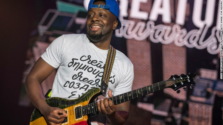 DETROIT, MI - MAY 25:  Wyclef Jean performs during the WeWork Celebrates The Detroit Creator Awards at Cadillac Square on May 25, 2017 in Detroit, Michigan.  (Photo by Scott Legato/Getty Images for WeWork)