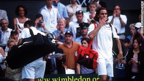 The king of Wimbledon, Pete Sampras, is dethroned.