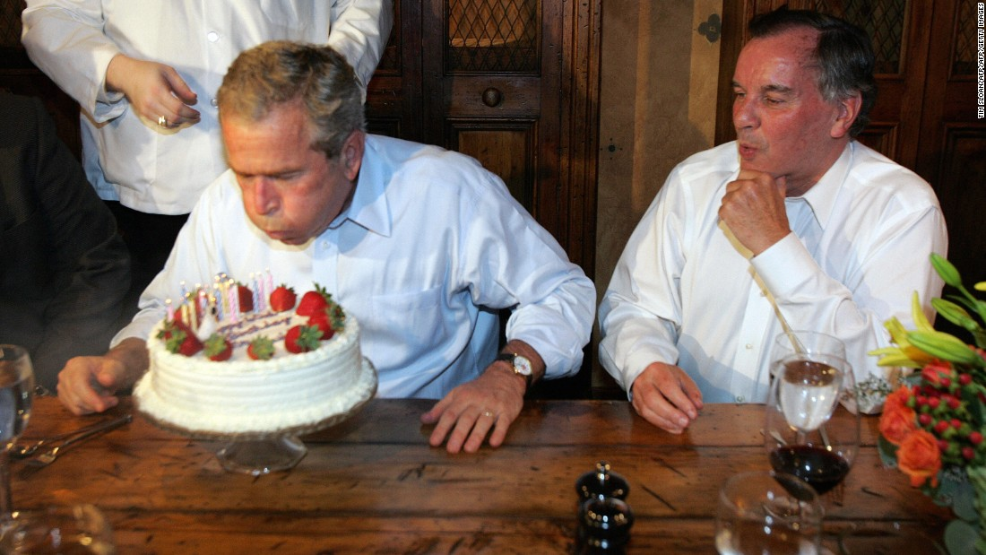 tbt george w bush loves birthdays more than anyone