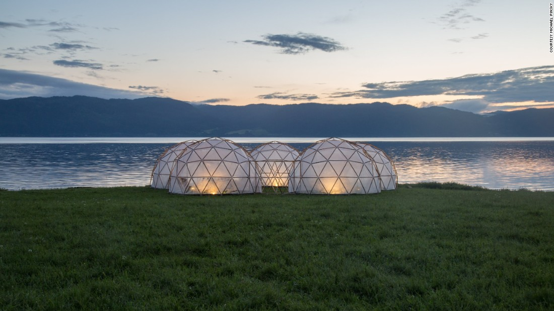 Visitors can experience the domes in Trondheim, Norway until July 7 -- so long as they sign the health disclaimer beforehand.