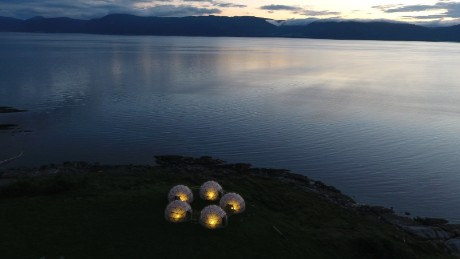 "The constructed ""Pollution Pods"" in Trondheim, Norway"