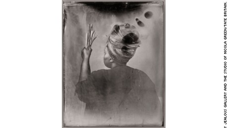 """Sothiou"" (2017) by Khadija Saye is now on display in the memorial space at Tate Britain in London."