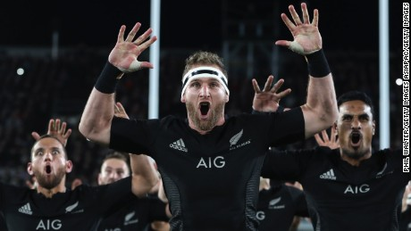 AUCKLAND, NEW ZEALAND - JUNE 11:  All Black captain Kieran Read performs the haka during the International Test match between the New Zealand All Blacks and Wales at Eden Park on June 11, 2016 in Auckland, New Zealand.  (Photo by Phil Walter/Getty Images)