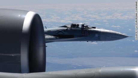 "A Russian Su-27 fighter jet flew within five feet of a US Air Force RC-135 reconnaissance aircraft over the Baltic Sea, according to a US official, an encounter that was assessed to be ""unsafe."""