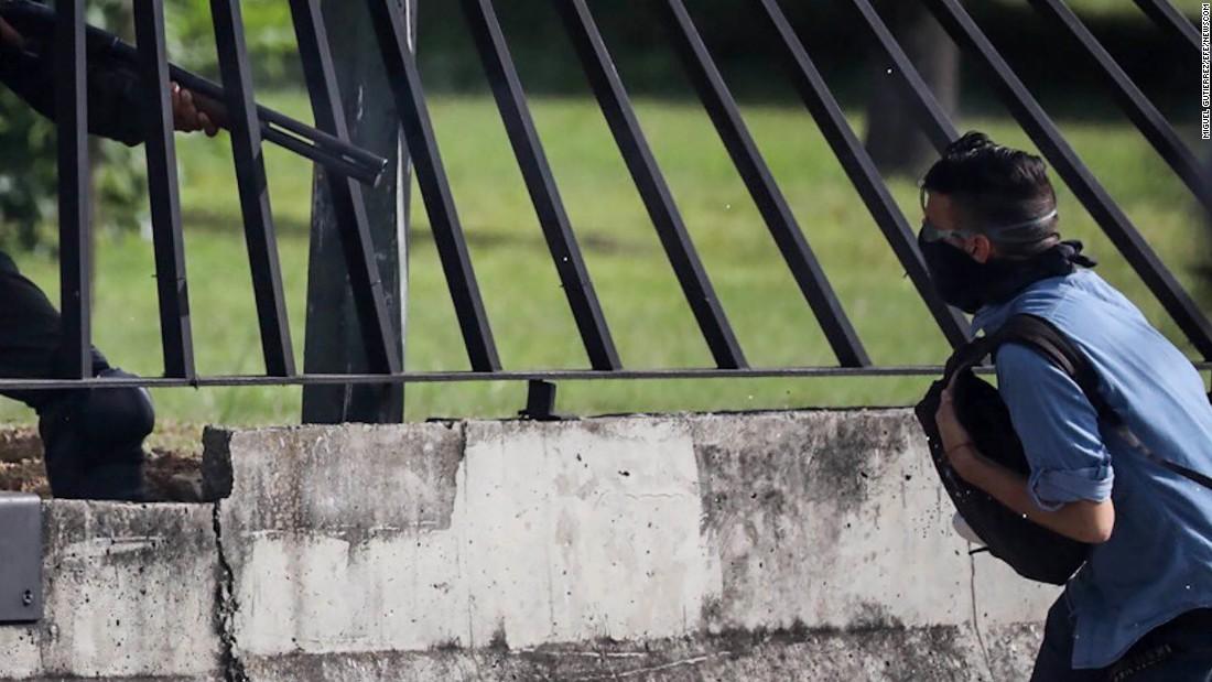 Venezuelan protester shot dead at point-blank range by soldier