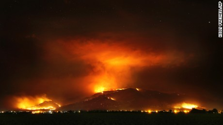 The Frye Fire burns Thursday near Willcox, Arizona.