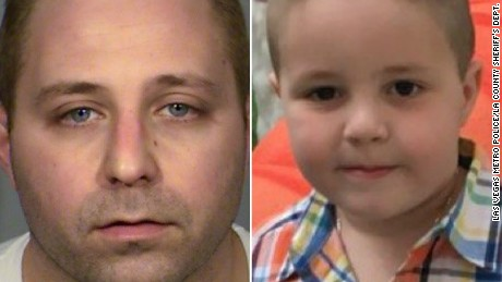 Aramazd Andressian Sr., left, was arrested Friday on suspicion of murder. His son, 5-year-old Aramazd Andressian Jr., right, has been missing since April 22.