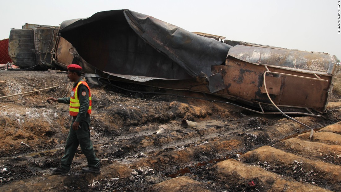Photos: Pakistan oil tanker explosion