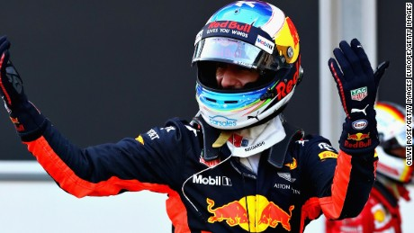 Daniel Ricciardo of Australia took the honors for Red Bull after a remarkable Azerbaijan Grand Prix.