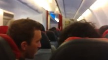Shaking forces plane to turn back