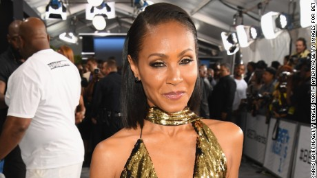 Jada Pinkett Smith arrives at the 2017 BET Awards
